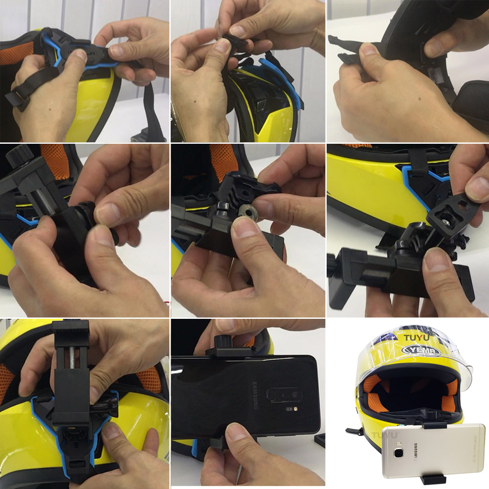 CASCO da moto FRONT BRACKET HOLDER Chin Mount Adapter per GoPro Hero 6//5//4