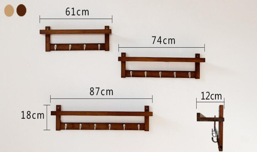 Whole Set Wall Hanging Hangers Wall Mount Coat Racks Household Wall Partitions Shelf