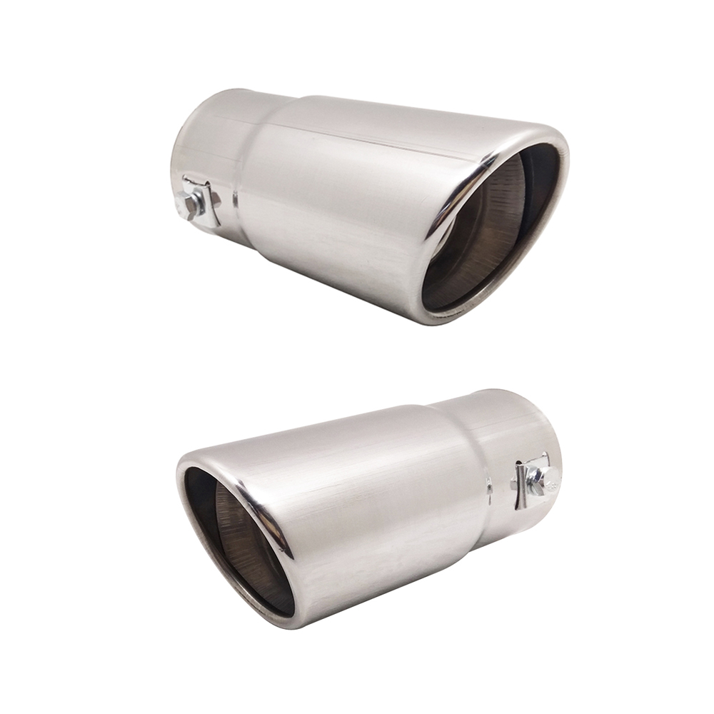 Auto Rear Tail Throat Car Muffler Round Exhaust Tail pipe Stainless Steel For Honda Infiniti Jeep Lexus Geely Bmw Audi Volvo Kia exhaust tips on jaguar xe