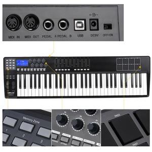 Image 4 - WORLDE taşınabilir _ _ _ _ _ _ _ _ _ _ _ _ _ _ _ _ _ _ _ _ anahtar MIDI klavye MIDI denetleyici 8 RGB renkli arkadan aydınlatmalı tetik pedleri ile USB kablosu piyano klavyesi Synthesi