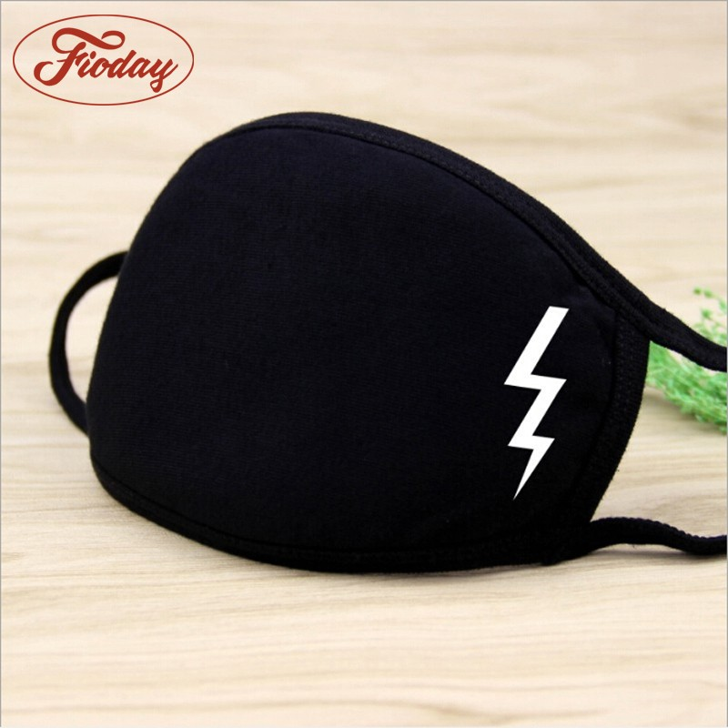 Fioday Unisex Winter Warm Thickening Mouth Mask Cotton Warm Dust Respirator Fashion Black Face Masks Women Cycling Anti-Dust
