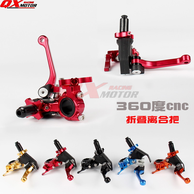 Universal Motorcycle CNC 360 degree's Folding Clutch Lever Fit CRF KLX YZF RMZ KAYO BSE Dirt Bike MX Motocross Enduro Off Road free shipping 7507 cnc aluminium gear shift shifter lever for ktm 65sx2008 motorcycle motocross enduro dirt bike off road mx