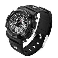 Fashion Children Watch SANDA Top Luxury New Brand Dual Display Watches Cartoon LED Digital Sport Waterproof