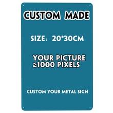 [SQ-DGLZ] letrero de Metal personalizado Vintage de PLACA de Metal personalizado, decoración de pared, cartel de estaño para decoración del hogar, cartel de placas de arte de pintura