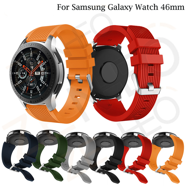 For Samsung Galaxy Watch 46mm Silicone Sport Wrist Strap Watch Bands 22 mm for X