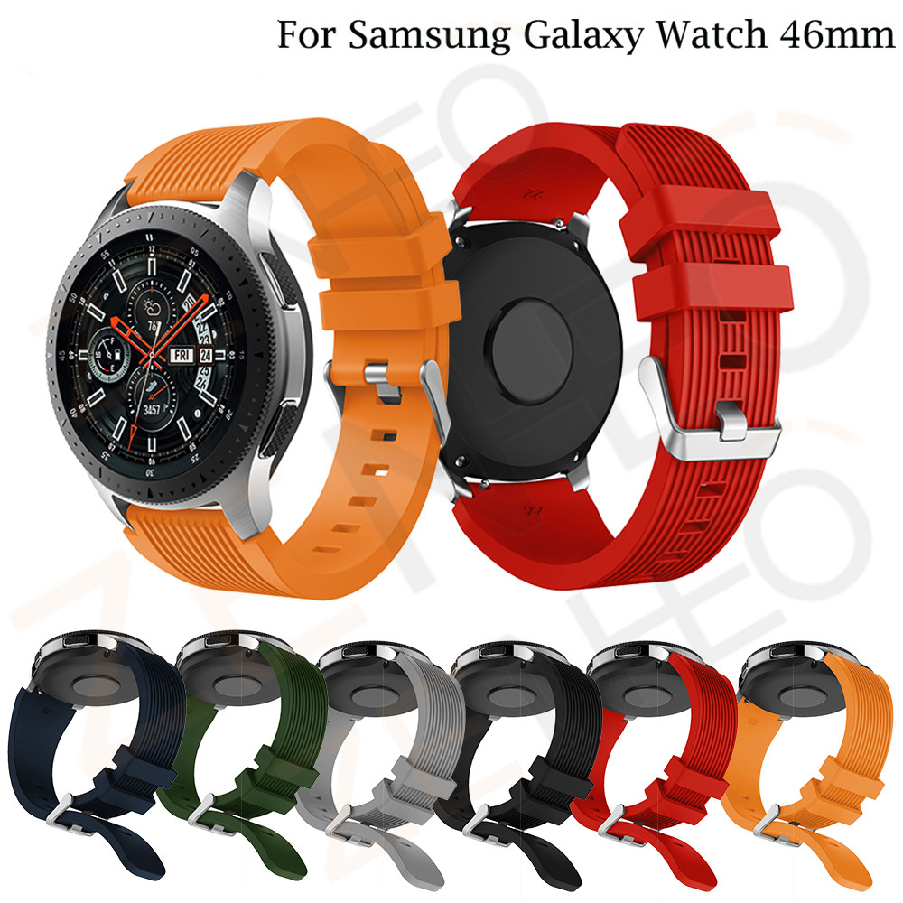 Silicone Sport Wrist Strap For Samsung Galaxy Watch 46mm Watch Bands 22 Mm For Xiaomi Huami Amazfit 2/2S Bracelet Band SM-R800