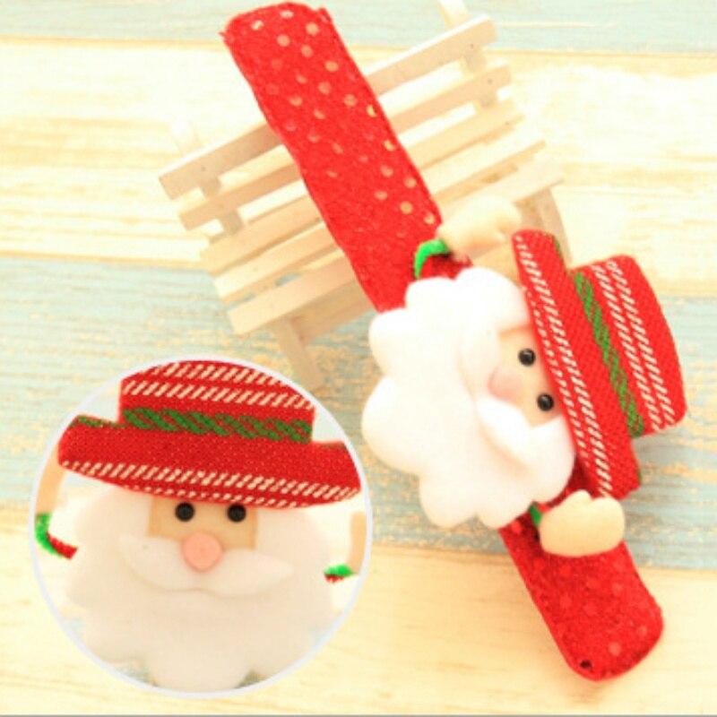 Light Lovely Merry Christmas Toy Novelty Christmas Slap Bracelet Christmas Decor Circle Hand Ring Children Gift Toys