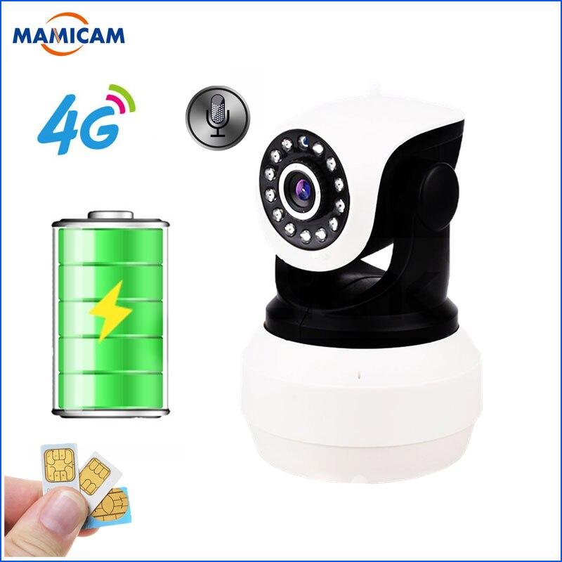3G 4G caméra batterie intégrée GSM carte SIM caméra sans fil WIFI sécurité à domicile 1080P HD Surveillance vidéo caméra IP