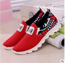 Hot fashion Women Men shoes flat trend printed cloth Men's Women's casual shoes slip-on breathable Unisex shoes