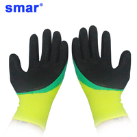 12 Pairs Best selling Green Yellow Latex Microfine Foam Gloves Factory Safety Gloves Working Gloves for Men Use 24 Pcs Fast ship