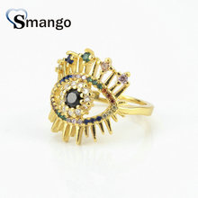 5Pieces,Women Fashion Jewelry,The Rainbow Series,The Big Eye Shape Rings, Gold Colors, Can Wholesale