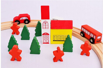 ФОТО 25PC circular wooden toys, children's hands-on disassembly Thomas rail train tracks