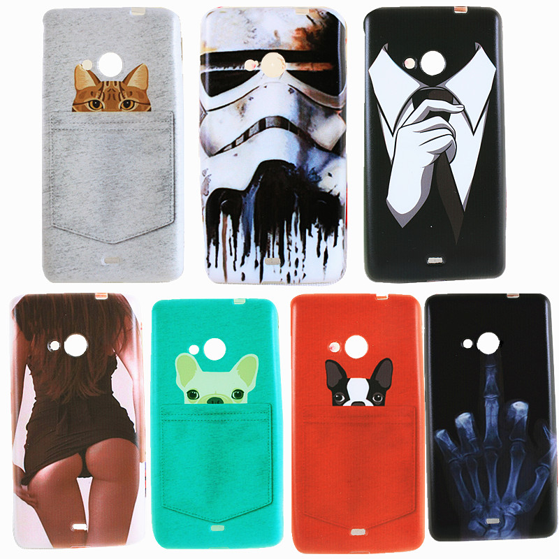 Cute Cat Sexy Girl Case For Nokia 535 Fashion Thin Tpu -9572