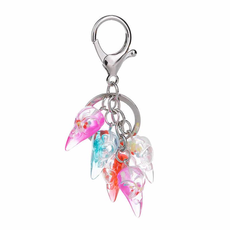 1 MÁY TÍNH Multicolorresin Raven Đầu Móc Khóa flatback nhựa quạ Mặt dây chuyền hạt nhựa móc khóa cho trang sức