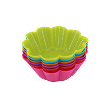 12 pcs/set Round Shaped Silicon Cake Baking Molds Jelly Mold Cupcake Pan Muffin Cup Chocolate
