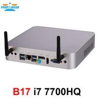 Intel Core i7 7700HQ DP VGA HDMI LAN 6 * USB Win10 Mini PC Linux DDR4 32 ГБ Max AC Wi Fi мини компьютер