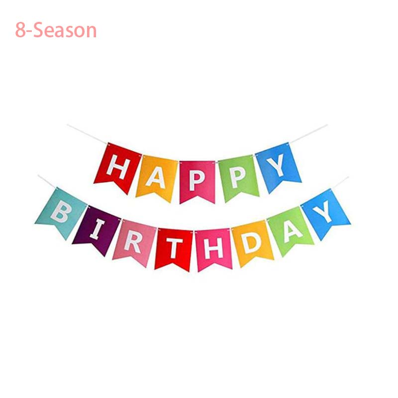 Colorful Happy Birthday Bunting Banners 1st birthday balloons party Blue Pink 16 inch Aluminum Decor Foil Letters Party Supplies