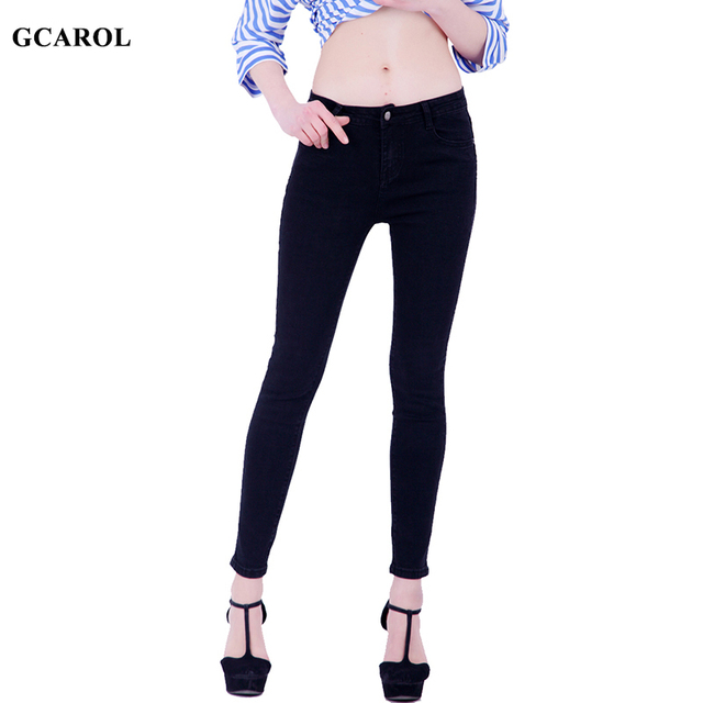 GCAROL Women Pencil Denim Jeans Stretch Sexy Skinny Pants High Quality Ankle Length Plus Size 34 For 4 Season 4 Colors Jeans