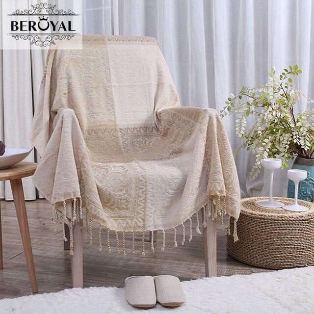 Chenille Yarn Throw Blanket Europe Pattern Blankets On Sofa/Bed/Plane/Travel  Bedding