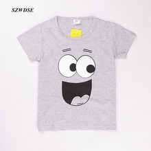 summer kids' boy/girls' Tee thin cartoon print unisex short sleeve cotton t-shirt children's clothing for 7-9 years Children