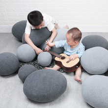 2019 New Hot Creative 3D Simulation Stone Pillow Striped Pebbles Cotton Back Cushion Lazy Home Decor Funny Soft