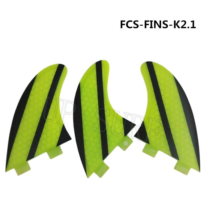 FCS 서핑 보드 핀 K2.1 3PCS / SET 트라이 - 세트 허니 콤 - 수상 스포츠