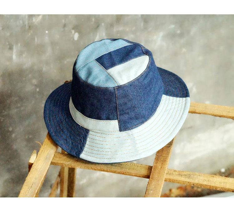 5afbcd57cad Tanworders 2017 Autumn Vintage Denim Bucket Hats For Women Men ...