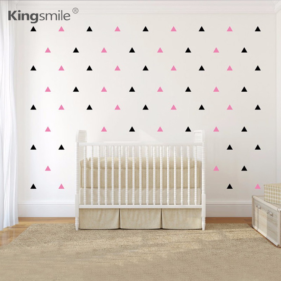 מוצר triangles wall sticker kids 120 pieces set triangles vinyl wall stickers colorful 72841