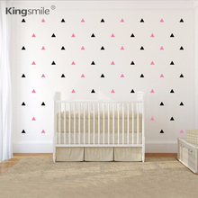 120pcs/set Triangles Pattern Wall Decal 1,2 or 3 colors DIY Nursery Decals Kids Bedroom Home Decor Sticker Free Shipping