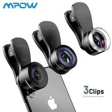Mpow 3 in 1 Clip-On Mobile Phone Lens Kits 180 Degree Wide Angle Macro Fisheye Lens + 0.36X Wide Angle Lens + 20X Macro Lens цена в Москве и Питере