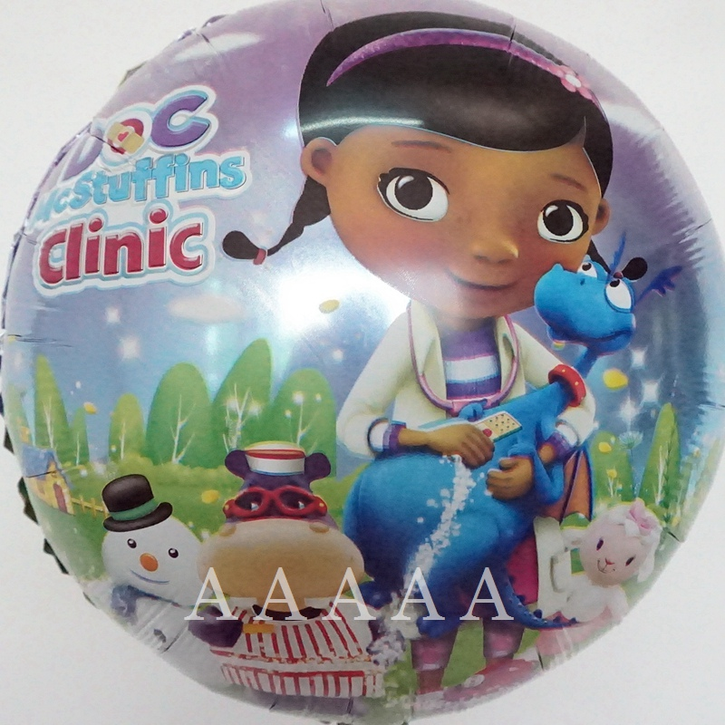 5pcs little toy doctor clinic balloons Doc McStuffins balloons for happy birthda