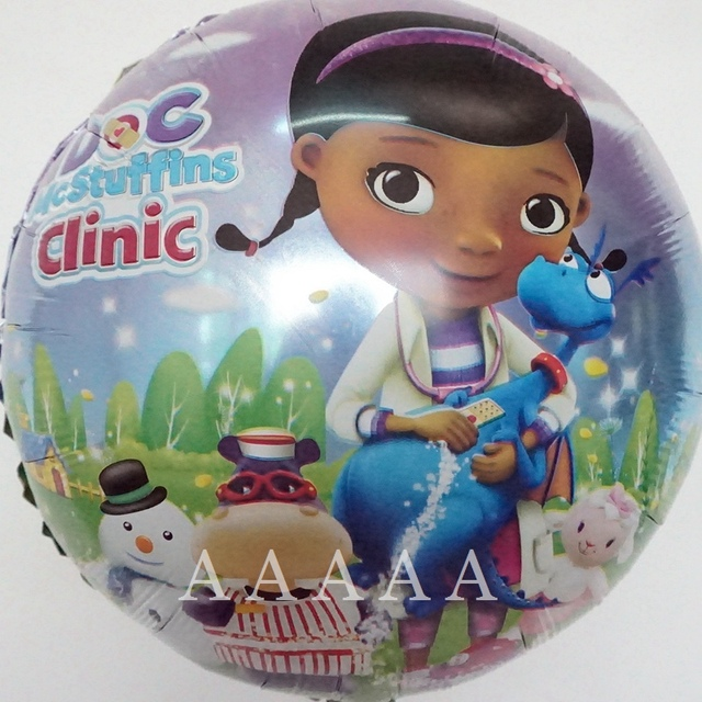 5pcs Little Toy Doctor Clinic Balloons Doc McStuffins For Happy Birthday Party Decoration Free Shipping