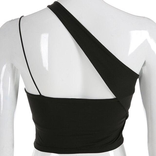 Darlingaga mode asymétrique enveloppement haut court femmes Camis noir rembourré Sexy hauts soutien-gorge froncé 2020 recadrée haut dété sous-vêtements
