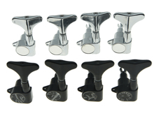 KAISH Set of 4 Left Handed Sealed Bass Tuners Tuning Keys Pegs 4 String Bass Machine Heads 2 Colors