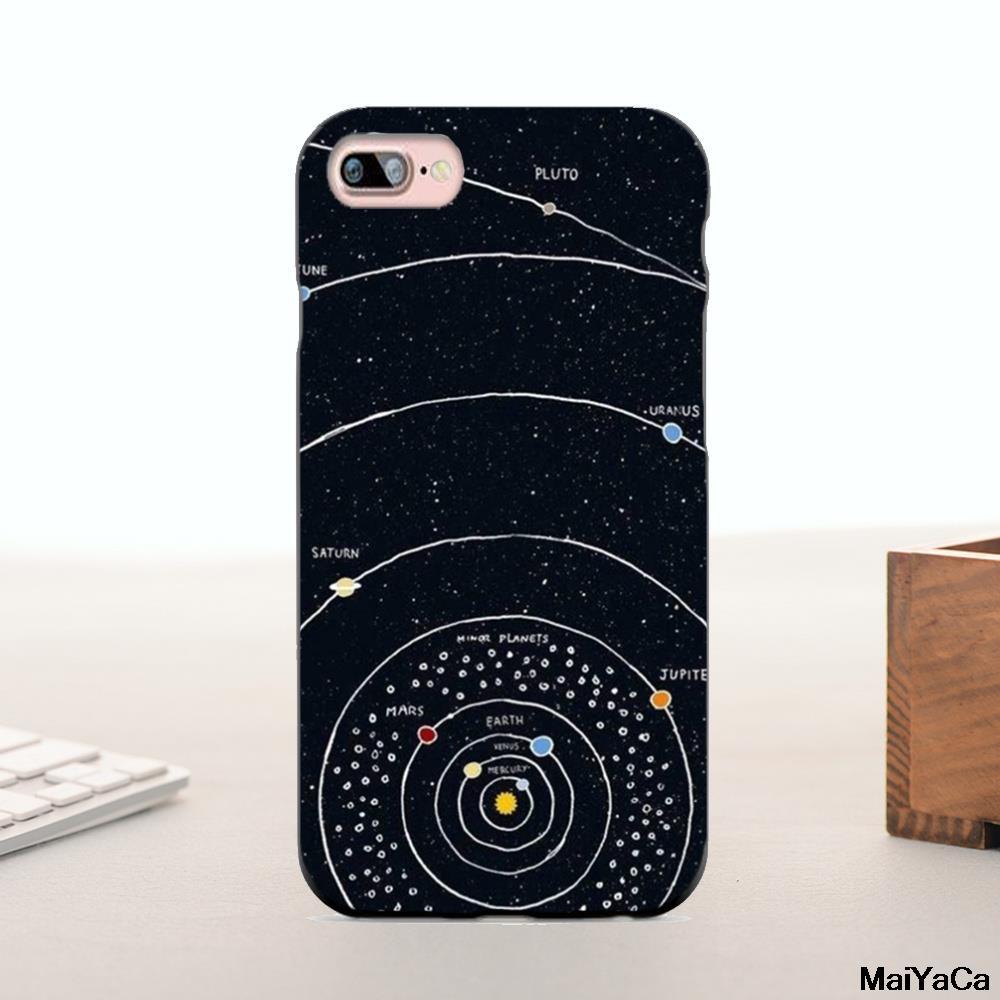 Maiyaca силиконовый чехол солнечной системы Черный Луна земля Роскошные гибридный телефон чехол для iPhone 5 6 6 плюс 7 7 Plus