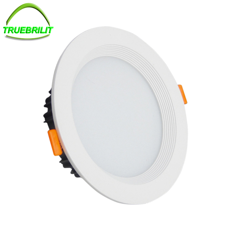 Dimmable LED Downlight 5W 7W 9W 12W 15W 18W 24W 85-265V LED DownLights SMD5730 Spot Recessed Down light Light Bulb led gold deco chandelier bulbs candle light e14 85 265v 5w lamps