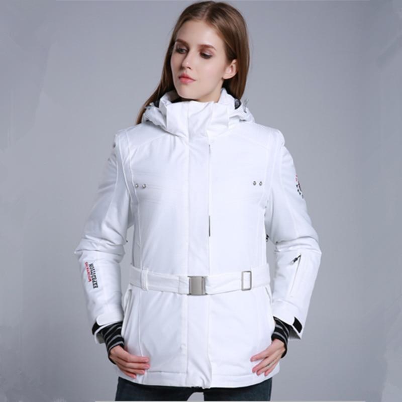 Prix pour Blanc Veste de Ski Snowboard Veste Imperméable Coupe-Vent D'hiver Veste Femmes Vêtements De Neige Femelle D'hiver Thermique Manteau
