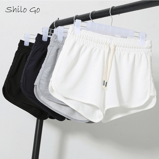 Free shipping 2016 summer paragraph high quality women cotton casual  home three shorts XXL black&white&blue&gary
