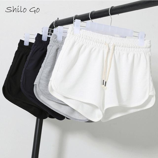 Frete grátis 2016 parágrafo verão de alta qualidade mulheres casuais de algodão para casa três shorts XXL black & white & blue & gary
