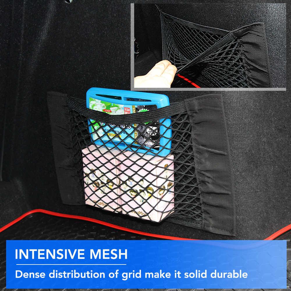 Ящик для хранения в багажник автомобиля сумка сетчатая Сетчатая Сумка 40 см * 25 см автомобильный Стайлинг держатель для багажа Карманный стикер органайзер для багажника