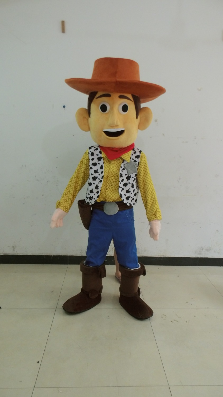 2014 new popular cowboy cartoon mascot costume/western cowboy woody mascot costume adult size can be customized