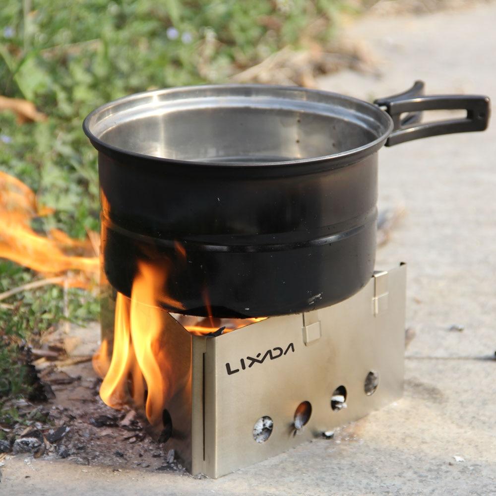 Lixada portátil de acero inoxidable al aire libre peso ligero estufa ...