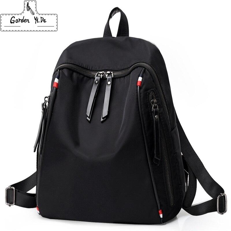 Men's Minimalist School Back Bag For Student Girl Women Nylon Backpack Fashion Backpack Student Rucksack Mochila