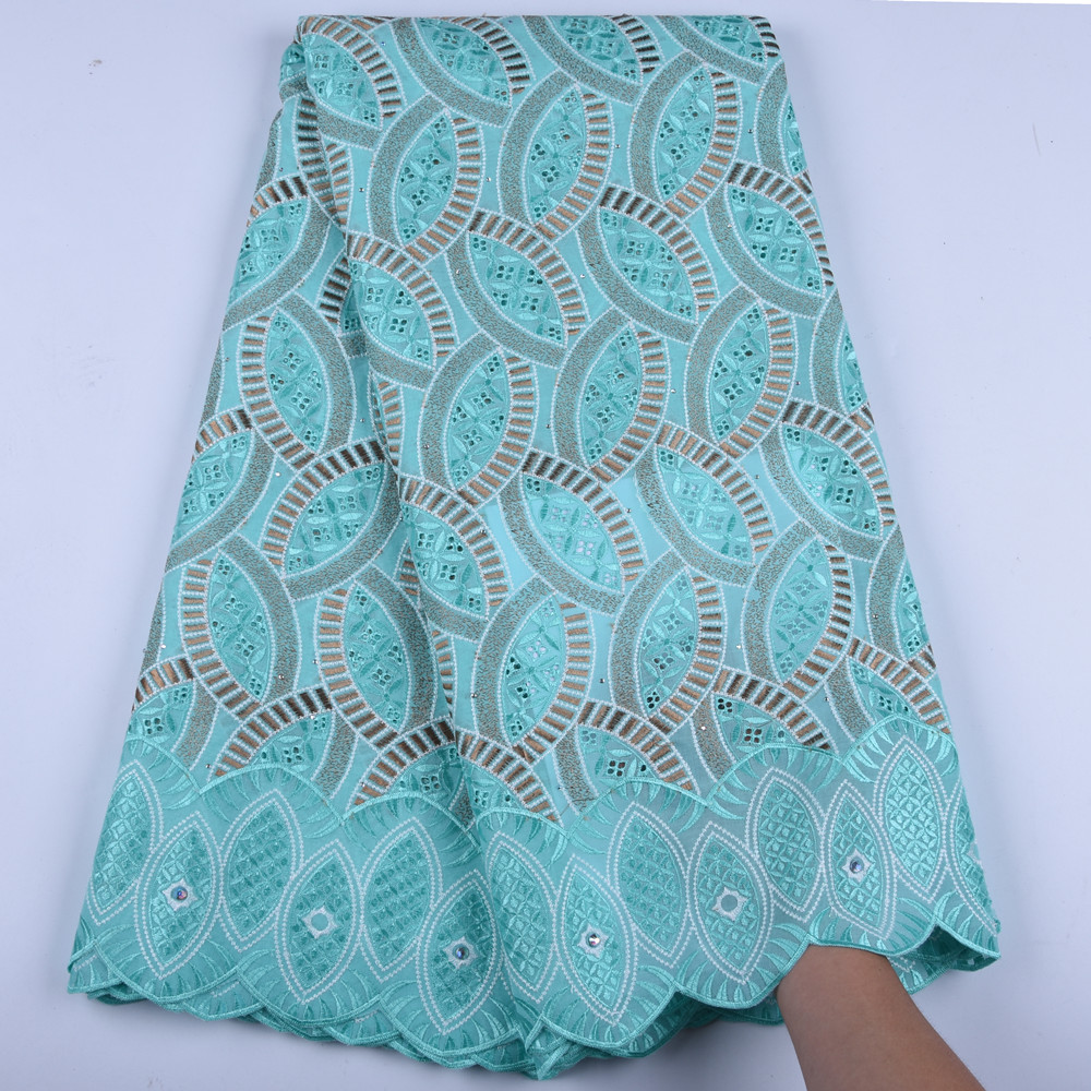 Nigerian Wedding African Lace Fabric Fashion African Cotton Swiss Voile Lace In Switzerland High Quality Dry