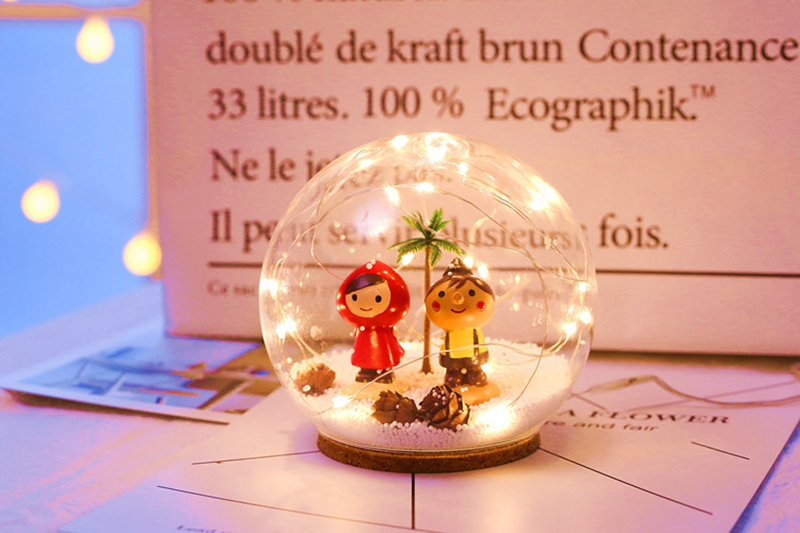 Creative LED Crystal Ball Design Table Lamp Room Decor Bedside Night Light For Girls Baby New Year Christmas Birthday Gift (15)