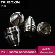 20pcs P80 cutting tools Consumables Tips 80A 100A Air Plasma Cutter  CUT80 CUT100 and WSM  welding machine 30pcs cut80 lg80 80a inverter plasma cutter p80 cutting gun consumables or accessories silver plate shield cup electrode tips