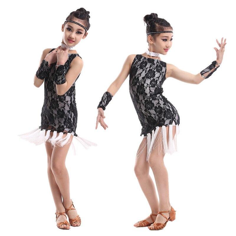Show details for Children's Latin Dance Dresses Show Costume Kids Latin Dress Square Dance Clothes Nagle Girls Samba   Latin Dance Dresses 2015