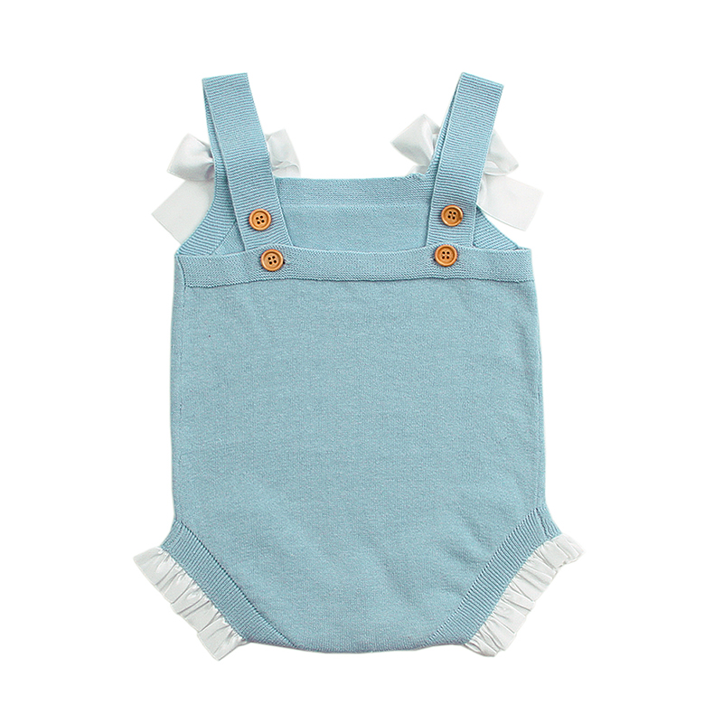 Baby Girl Summer Body Suits White Lace Newborn Infant Sunsuits Cute Pink Toddler Princess Onesie Blue Sleeveless Child Overalls