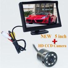 Супер Автомобиль Монитор 5 Дюймов 800×480 Пикселей TFT ЖК-Монитор цвет Заднего View Monitor + 520 Твл Ночного Видения Камеры