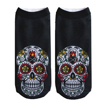 Men Clothing Accessories Socks 3D Skull Printed Cute Short Socks Unisex Fashion Casual Summer Socks